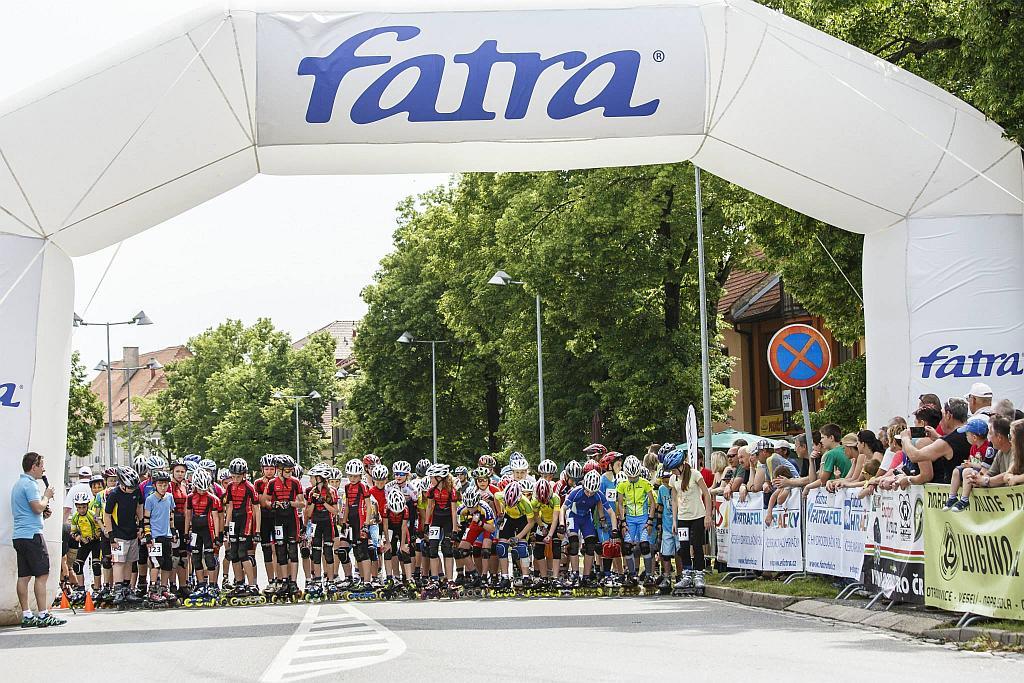 Start závodu dětí Inline Napajedla 2014
