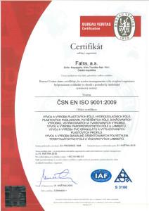 Fatra ISO certifikát 90101-QMS_FATRA_CZ-1