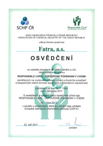 Fatra-certifikát-resposible-care