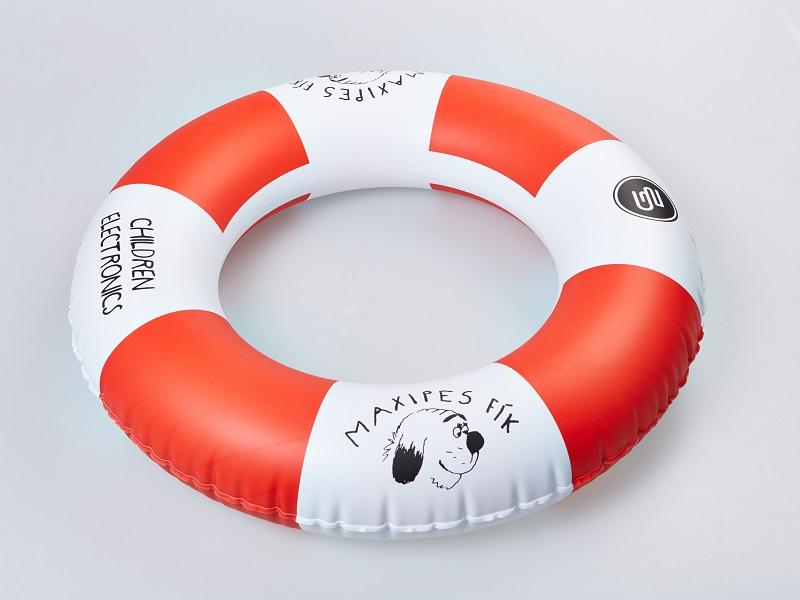 Nafukovací reklamní předmět - plavací kolo, kruh, Fatra