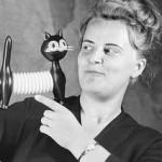 Libuše Niklová s kočkou detail ve Fatře