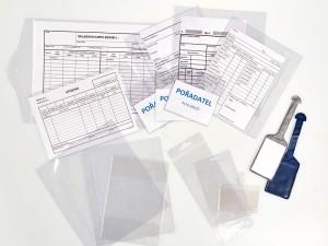 Aplikace fólií - složky, visačky, obaly, Fatra