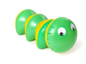 Inflatable toy caterpillar, Fatra
