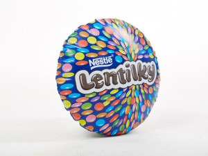 Promotional inflatable object Lentilky, Fatra