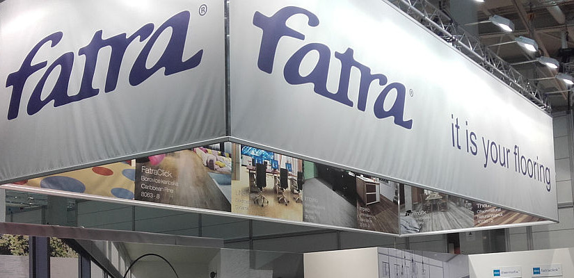 Fatra exhibited vinyl flooring at Domotex
