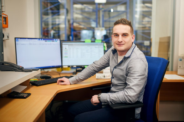 Marek Stuchlík, vedoucí skladového úseku podlahových krytin